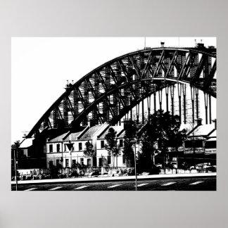 Opinião 6 da ponte do porto poster
