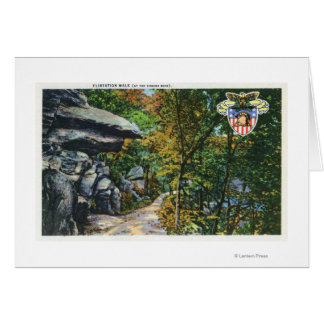 Opinião da caminhada do namorico da rocha de beijo cartão comemorativo