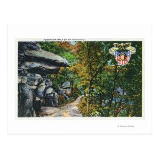 Opinião da caminhada do namorico da rocha de beijo cartão postal