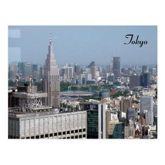 opinião da cidade de tokyo cartão postal