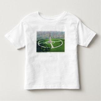 Opinião da cimeira da baliza do memorial do estado t-shirts