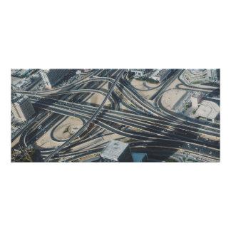 Opinião da estrada de Burj Khalifa, Dubai Panfleto