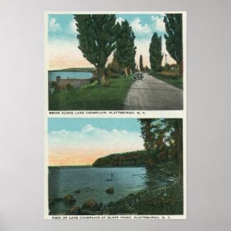 Opinião da movimentação de Champlain do lago Poster