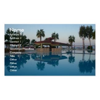 Opinião da piscina cartoes de visita
