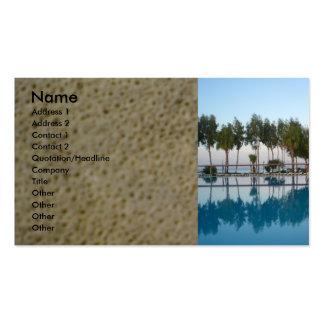 Opinião da piscina modelos cartões de visitas
