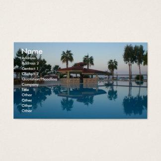 Opinião da piscina cartão de visitas