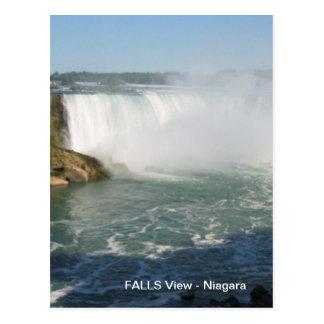 Opinião das quedas: Niagara EUA Canadá Cartão Postal