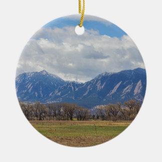 Opinião de cão de pradaria de Boulder Colorado Ornamento De Cerâmica