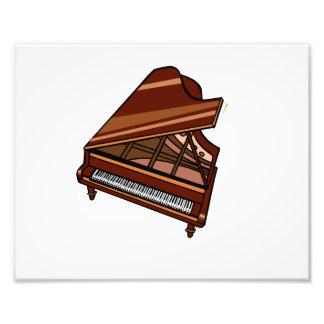 Opinião de olho de pássaro de Brown do piano de ca Impressão De Foto