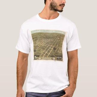 Opinião de olho de pássaro de Jackson, Tennessee Camiseta