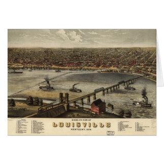 Opinião de olho de pássaro de Louisville, Kentucky Cartão Comemorativo