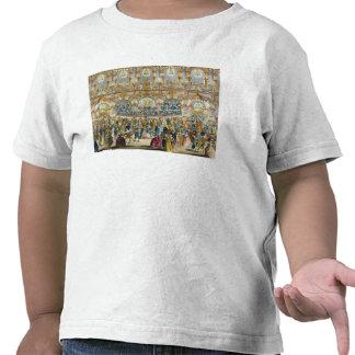 Opinião de perspectiva do salão de baile, construí t-shirt