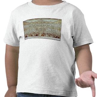Opinião de perspectiva do salão de baile construíd camisetas