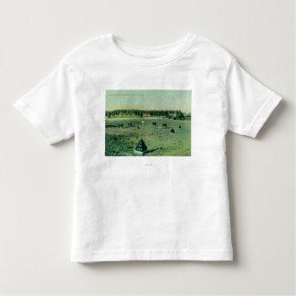 Opinião de terras de parada no Presidio T-shirts