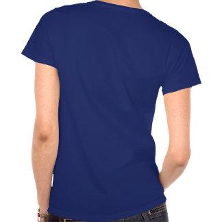 Opinião dianteira e traseira da rainha do pirata camiseta