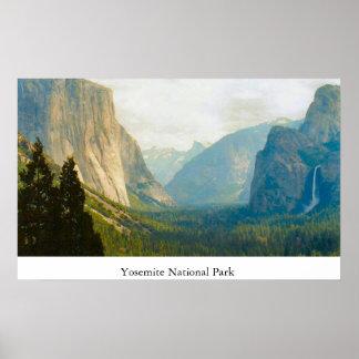 Opinião diferente de parque nacional de Yosemite Poster