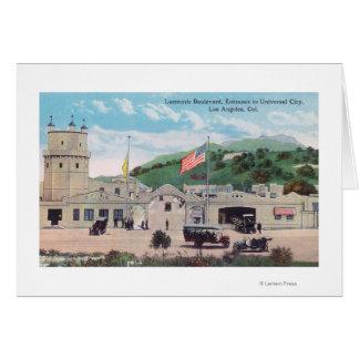 Opinião do bulevar de Laemmle da cidade universal Cartão Comemorativo