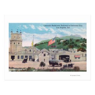 Opinião do bulevar de Laemmle da cidade universal Cartão Postal