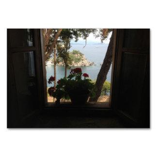 Opinião do mar da janela