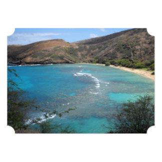 Opinião do penhasco da baía Havaí de Hanuama Convites Personalizados