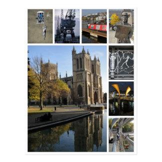 Opinião do retrato da multi-imagem de Bristol Cartão Postal