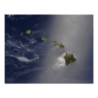 Opinião do satélite de Havaí Impressão