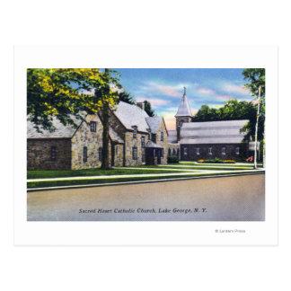 Opinião exterior o católico sagrado do coração cartões postais