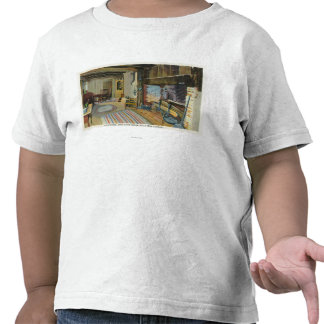 Opinião interior da cozinha da casa de John Alden Camisetas