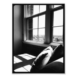 Opinião preto e branco do sótão impressão de foto
