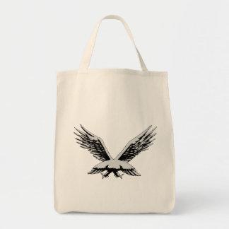 Opinião traseira do pássaro bolsas