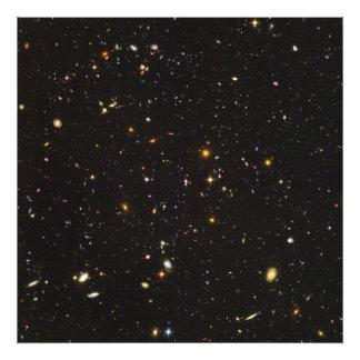 Opinião ultra profunda do campo de Hubble de Impressão De Foto