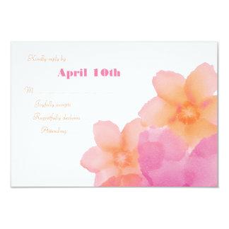 Opinião Wedding floral 2 do nascer do sol tropical Convite 8.89 X 12.7cm
