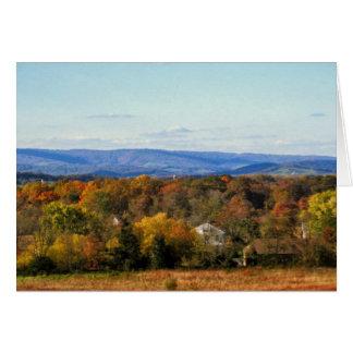 Opiniões de outubro o Ridge azul Mtns. cartão