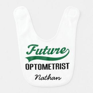 Optometrista futuro babador personalizado do bebê