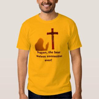 Oração, a melhor conexão sem fio nunca! T dos Tshirt