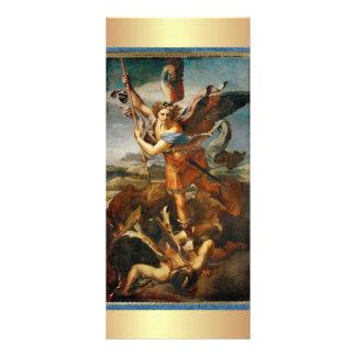 Oração a St Michael o arcanjo 10.16 X 22.86cm Panfleto