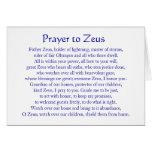 Oração a Zeus Cartoes