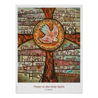 Oração ao poster da sala de aula do Espírito Santo