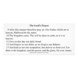Oração Cartão do senhor 10.16 X 22.86cm Panfleto