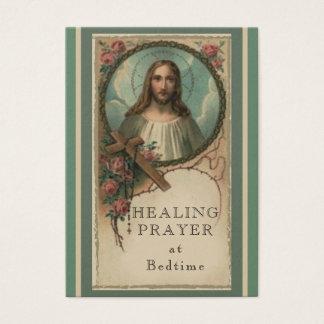 Oração cura no cartão santamente do coração