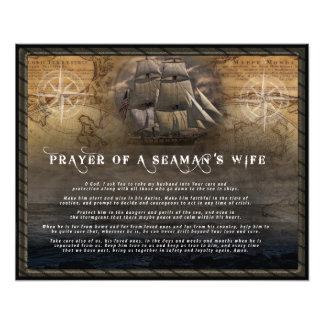 Oração da esposa de um marinheiro impressão de foto