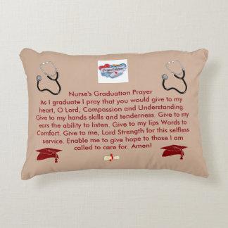 Oração da graduação da enfermeira almofada decorativa