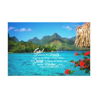 Oração da serenidade & Bora Bora Impressão Em Tela