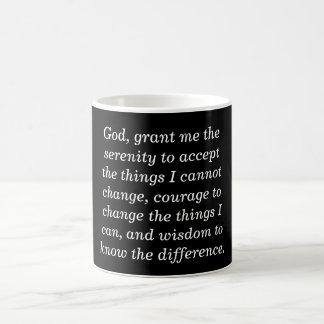 Oração da serenidade - caneca de café