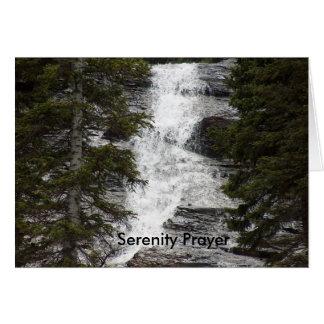 Oração da serenidade cartão comemorativo
