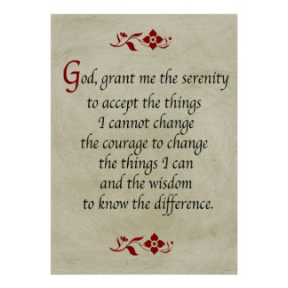 Oração da serenidade/estilo do vintage poster