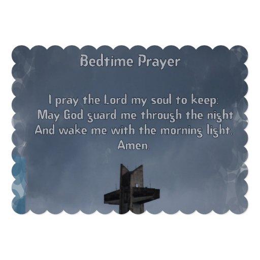Oração das horas de dormir da criança convite personalizado