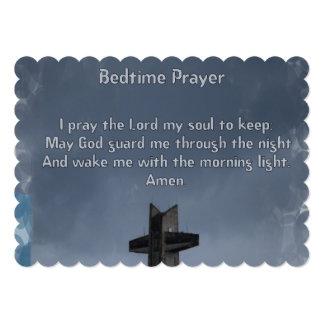 Oração das horas de dormir da criança convite 12.7 x 17.78cm