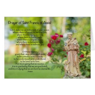 Oração de St Francis de Assisi Cartão Comemorativo