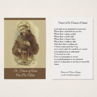 Oração de St Francis do cartão santamente de